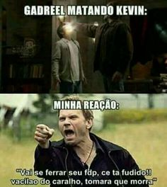 Bem isso ;-; Supernatural Series, Supernatural Funny, Spn Memes, Funny Memes, Netflix, Lost Girl, You Are Perfect, Series Movies, Destiel