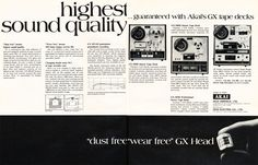 1971 Akai ad for the GX-220, the GX-280 and the GX-365 reel to reel tape…
