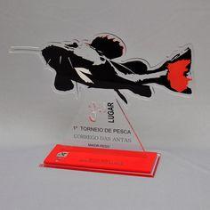 Troféu campeonato pescaria