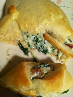 Bacon spinach dip crescent rolls