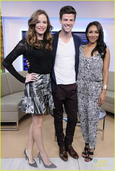 Grant Gustin, Danielle Panabaker and Candice Patton at the CTV Upfront 2014
