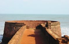There are extensive ruins of the fort which can be reached by road. The fort has a four storey Portuguese lighthouse, erected in the 19th century (1864) and the oldest of its kind in Asia, the lighthouse is situated inside the fortress and looks down over the vast expanse of sea, sand and palm trees of Calangute Beach on one side, and across the mouth of the Mandovi to Cabo Raj Bhavan..!!
