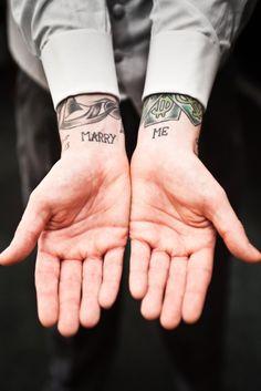 marry me #wrist #tattoos
