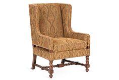 Guy Chaddock Rope Twist Wing Chair on OneKingsLane.com