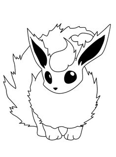 Flareon Pokemon Coloring Pages – Play coloring with us Pikachu Pikachu, Flareon Pokemon, Eevee Evolutions, Baby Coloring Pages, Horse Coloring Pages, Printable Coloring Pages, Coloring Books, Kids Coloring, Colouring