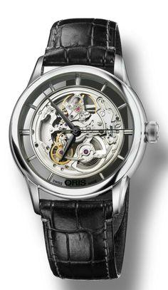 Oris - Artelier Translucent Skeleton #luxurywatch #Oris-swiss Oris Swiss Watchmakers Pilots Divers Racing watches #horlogerie @calibrelondon