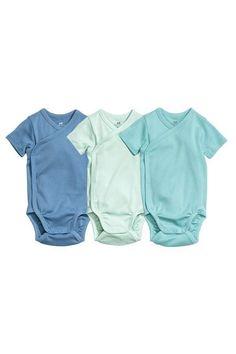 Soft Retro Style Bermuda Silhouette Crawler Short Sleeve Cotton Bodysuit for Unisex Baby