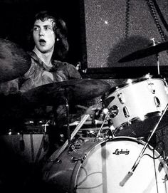 Mitch Mitchell on Ludwig drums 1968