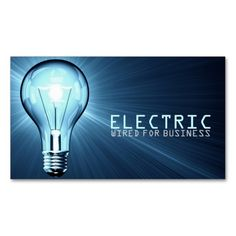 Electrician, Electric, Construction Business Card. Make your own business card with this great design. All you need is to add your info to this template. Click the image to try it out!
