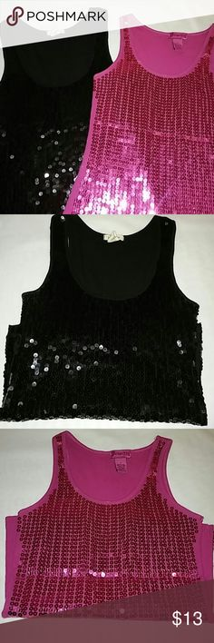 Sequins Tank Tops Sequins Tank Tops, Size M. Price is for both. Tops Tank Tops