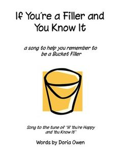 If You're a Bucket Filler