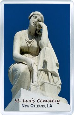 $3.29 - Acrylic Fridge Magnet: United States. Louisiana New Orleans. St. Louis Cemetery. Woman in Mourning