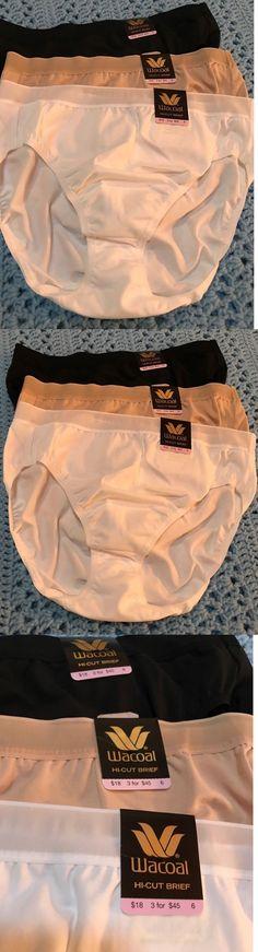 Panties 63854: New W Tags Wacoal #871202 Cotton Suede - Hi-Cut Brief Panties Sz 6 - 3 Pair -> BUY IT NOW ONLY: $30 on eBay!