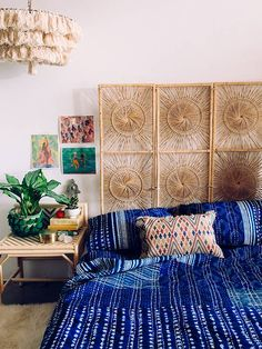 statement textiles + headboard from The Jungalow!