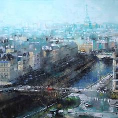 Paris Early Spring | 36 x 72 | Oil on Canvas
