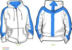 Reserved for nickkesman - Avatar Aang Airbender Hoodie (Size XS to L) - White or Black with Blue Tattoo. $84.95, via Etsy.