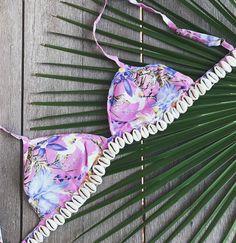 The newest SHELL BRALETTE in BLOSSOM 🌸 🐚 www.rumsbeach.com #rumandwadner #rumsbeach #cowrie #shell #mermaid #beach #bikini #swimwear