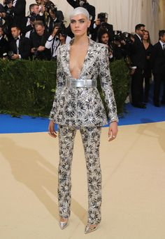 Cara Delevingne in Chanel. Photo: Neilson Barnard/Getty Images