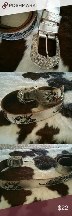Ed Hardy Belt Size large, excellent condition!!! Ed Hardy Accessories Belts