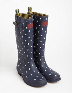 Joules Women's Cavendish Colour Block Top Wellington Boots - Black ...
