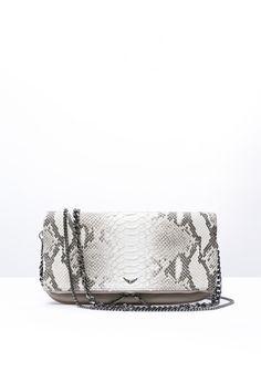 Zadig & Voltaire rock cobra beige women bag