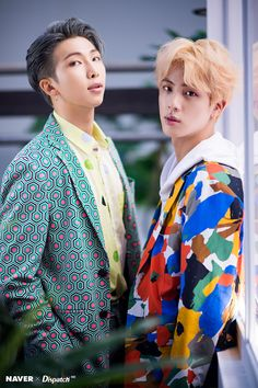 RM and Jin / Namjoon and SeokJin / namjin K Pop, Jhope, Bts Bangtan Boy, Bts 2018, Foto Bts, Btob, Yoonmin, Rap Monster, Taekook