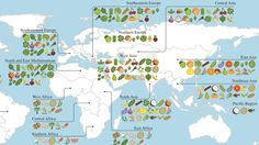 A Map Of Where Your Food Originated May Surprise You. A new study reveals the full extent of globalization in our food supply. More than two-thirds of the crops that underpin national diets originally came from somewhere else — often far away. Ap Human Geography, Teaching Geography, Culinary Classes, Map Vector, Food Science, City Maps, East Africa, Cartography, Types Of Food