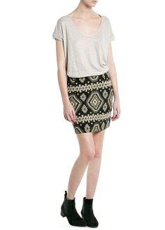 MANGO - CLOTHING - Skirts - Ethnic jacquard skirt