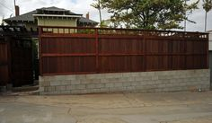 Privacy Fence With Cinder Block Base For Extra Height Or