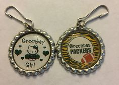Handmade Green Bay Packers and Hello Kitty Inspired Zipper Pull Set of 2 | Sports Mem, Cards & Fan Shop, Fan Apparel & Souvenirs, Football-NFL | eBay!