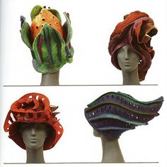 Gentle Threads by Judit Pocs - those are some crazy lookin' bike helmets