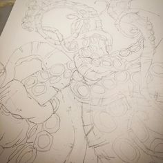 Line drawings for tentacles of the giant octopus! #draw #drawing #sketch #sketching #pencil #pencildrawing #pencildrawings #pencilart #doodle #artists #artistsoninstagram #octopus #octopusart #octopuslove #pencilsketch #animalart