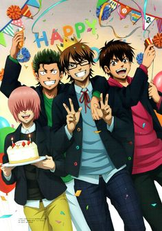 Ace of Diamond / Daiya no Ace / ダイヤのA Characters : Kuramochi Youichi / 倉持 洋一 Sawamura Eijun / 沢村 栄純 Kominato Haruichi / 小湊 春市 Miyuki Kazuya / 御幸 一也