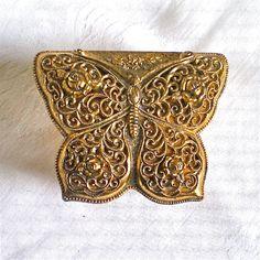 Vintage Jewelry Box Hollywood Regency Gold by vintagedottirose