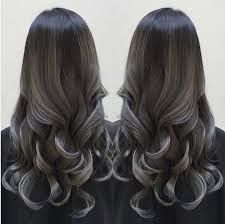 Image result for hair color ombre silver