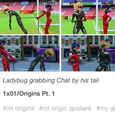 I'm convinced that the only reason he has the tail is so Ladybug can grab and keep him from doing stupid things. <--- so, his tail is his leash. Miraclous Ladybug, Ladybug Comics, Mlb, Miraculous Ladybug Song, Paris, Catty Noir, My Emotions, Kids Shows, Movies And Tv Shows