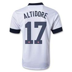 5cc93986a  98.99 - Nike USA Centennial 2013  ALTIDORE 17  Home Replica Soccer Jersey  (Football White)