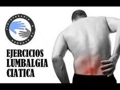Lumbalgia y ciática, ejercicios para aliviar el dolor de espalda / Fisi...