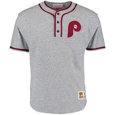 Men's Philadelphia Phillies Mitchell & Ness Gray Inning Baseball Jersey T-Shirt baseball Team Shirts, Boys T Shirts, New Style T Shirt, Marvel Clothes, Custom Made T Shirts, Sarcastic Shirts, Team Wear, Mens Gear, Plain Tees