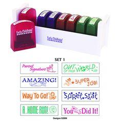 Early Learning Resources LLC Self-inking Teacher Stamps Set 1 Teacher Supplies, Teacher Tools, Teacher Hacks, Teacher Stuff, School Supplies, Teacher Gifts, Future Classroom, School Classroom, School Teacher