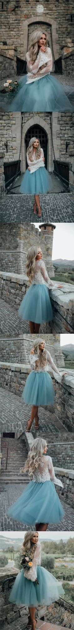 2017 Homecoming Dress Beautiful Two Pieces Lace Short Prom Dress Party Dress JKS059