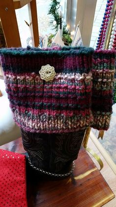 Hand knit boot cuffs with hand made ceramic by DillysImpressions these are so cute looks like something you would like too Knitted Boot Cuffs, Knit Boots, Cotton Crochet, Michael Kors Jet Set, Hemp, Hand Knitting, Straw Bag, Buttons, Tote Bag