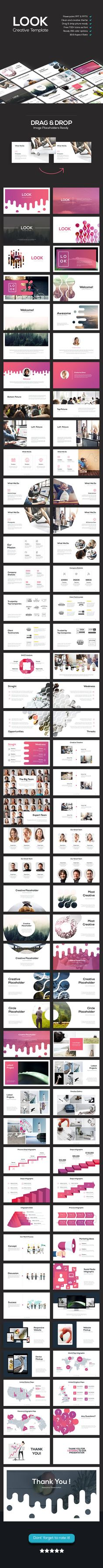 Look - Creative Theme - PowerPoint Templates Presentation Templates                                                                                                                                                                                 More