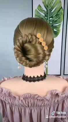 Bun Hairstyles For Long Hair, Braids For Long Hair, Hair Updo, Daily Hairstyles, Hairstyles Videos, Beautiful Hairstyles, Wedding Hairstyles, Front Hair Styles, Medium Hair Styles