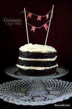 Manzana&Canela: Guinness Layer Cake. Tarta de cerveza negra.