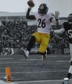 LeVEON BELL SIGNED & FRAMED 16X20 JSA COA PITTSBURGH STEELERS AUTOGRAPH