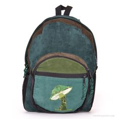 Mystical Mushroom Backpack Green on Sale for $49.99 at The Hippie Shop