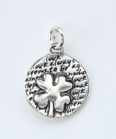 Take a look at this Sterling Silver Small Clover Pendant by KEVIN N ANNA on #zulily today!