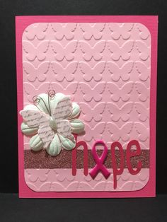 Designs by TM | $5.00 from stock | $7.00 custom designs available. www.facebook.com/designsbytm #designsbytm #cardmaking #cards #handmade #breastcancerawareness breast cancer awareness