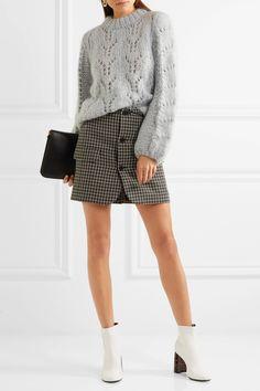 GANNI | Faucher mohair and wool-blend sweater | NET-A-PORTER.COM